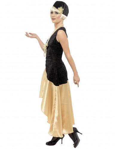 Satijnachtig charleston kostuum voor vrouwen-1