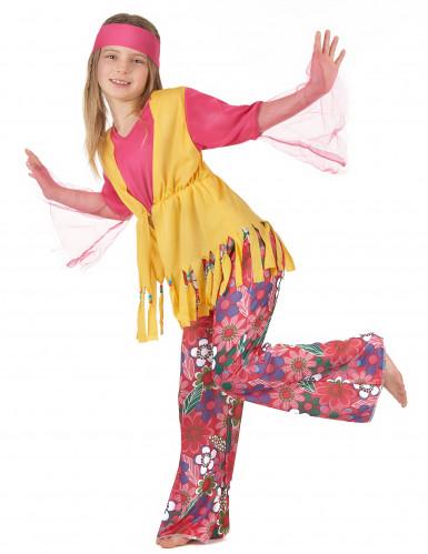 Veelkleurige hippie outfit voor meisjes-1