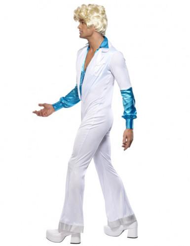 Blauw en wit disco kostuum voor mannen-3