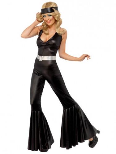 Smal zwart disco pak voor dames-1
