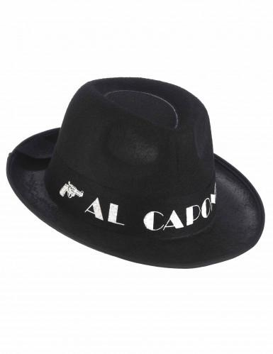 Zwarte Al Capone borsalino hoed volwassenen