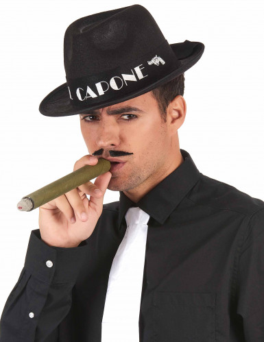 Zwarte Al Capone borsalino hoed volwassenen-1