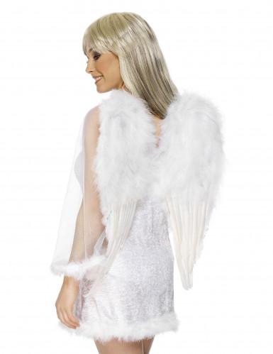 Witte vleugels met veren voor volwassenen