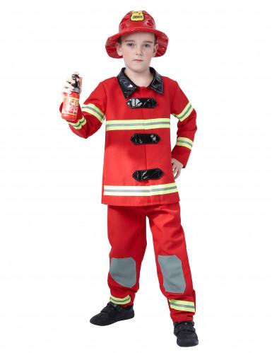 Rood brandweerman pak voor kinderen
