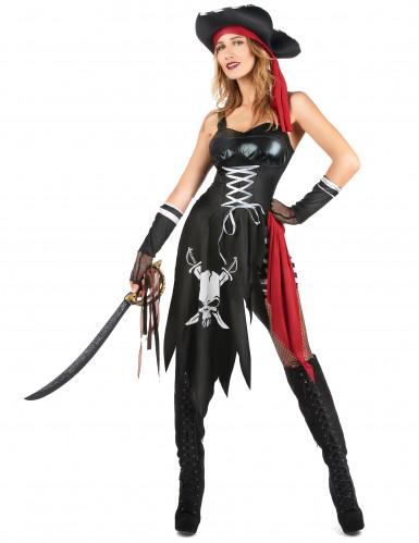 Verscheurd sexy piraten kostuum voor vrouwen