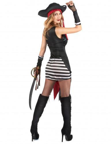 Verscheurd sexy piraten kostuum voor vrouwen-2