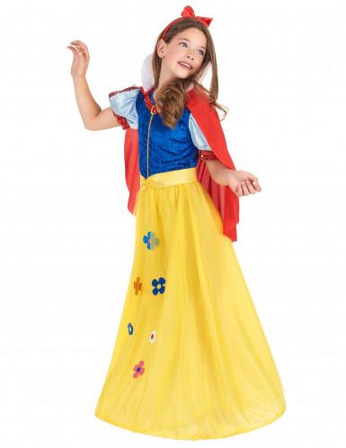 Sneeuwwitje bloemen kostuum voor meisjes-1