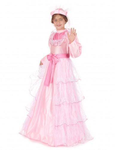 Roze prinsessenkostuum voor meisjes-1
