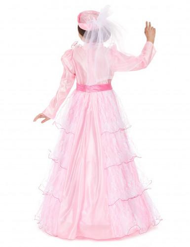 Roze prinsessenkostuum voor meisjes-2