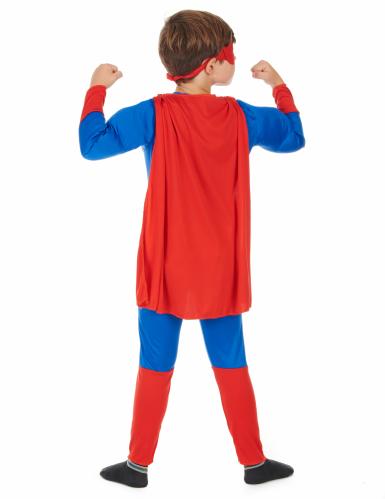 Rood met blauw superhelden kostuum voor jongens-2