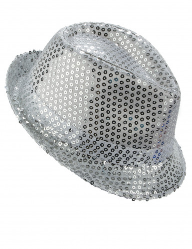 Zilverkleurig borsalino hoed