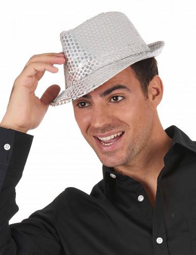 Zilverkleurig borsalino hoed-1