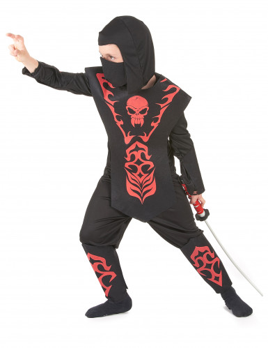 Doodskop ninjakostuum voor jongens-1