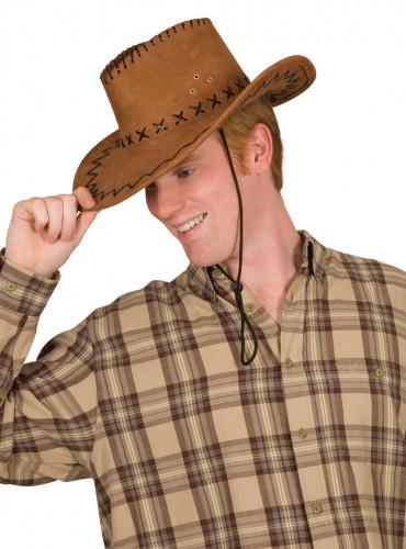 Kastanjebruine cowboyhoed
