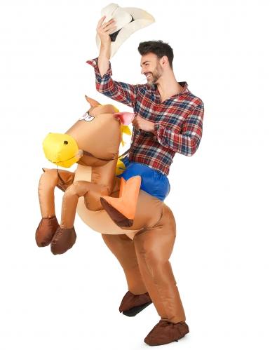 Opblaasbaar paardenpak voor volwassenen-1
