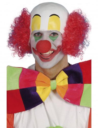 Rode clownspruik voor mannen