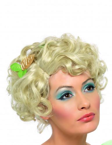 Blonde korte damespruik met krullen