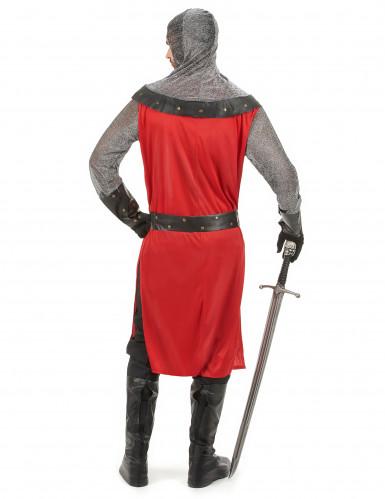 Rode en grijze middeleeuws ridder outfit voor heren-2