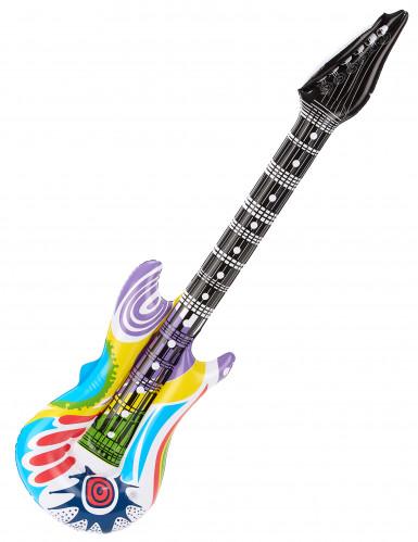 Veelkleurige opblaasbare rockgitaar