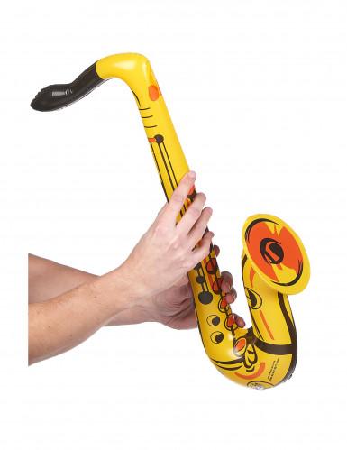 Opblaasbare gele saxofoon-1