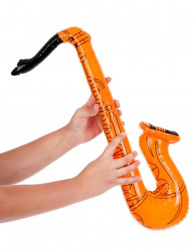 Oranje opblaasbare saxofoon-1