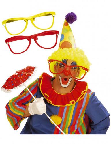 Reusachtige clownsbril voor volwassenen