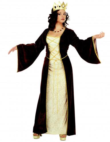 Fluweelachtig middeleeuwse prinsessen kostuum voor vrouwen