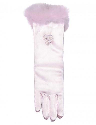 Halflange roze handschoenen voor kinderen