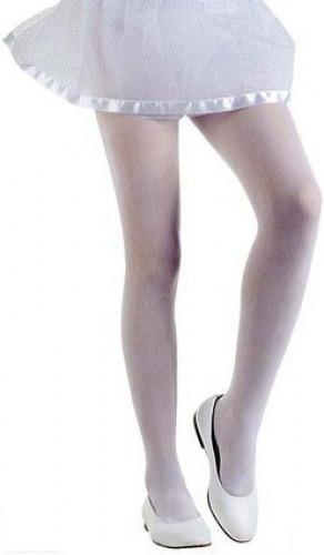 Ondoorzichtige witte panty voor kinderen
