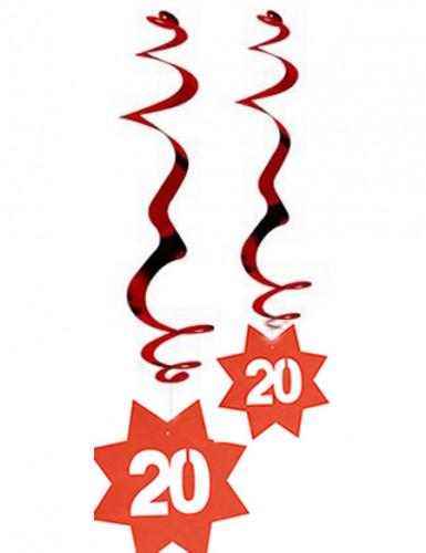 20 jaar verjaardag plafonddecoratie