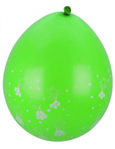 8 ballonnen met kleine beertjes