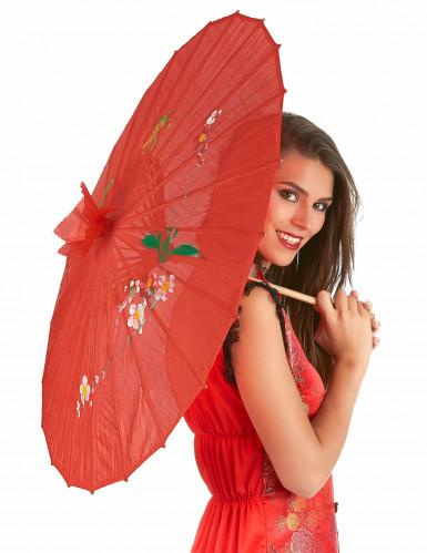 Rode Chinese parasol-1