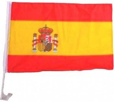 Spaanse supportersvlag voor in de wagen