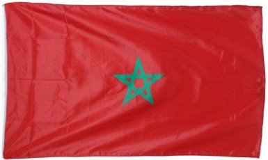 Vlag voor supporter Marokko