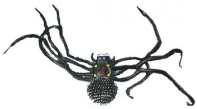 Reusachtige zwarte Halloweenspin