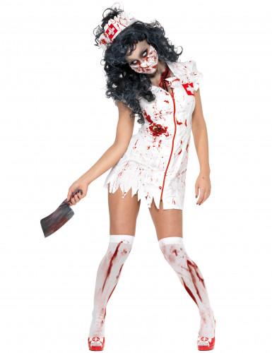 Sexy zombie verpleegster jurk voor vrouwen