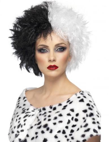 Cruella damespruik voor Halloween