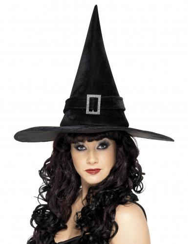 Zwarte heksenhoed voor vrouwen
