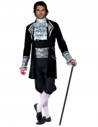 Zilverkleurige barok kostuum voor heren