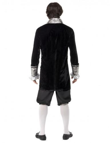 Zilverkleurige barok kostuum voor heren-1