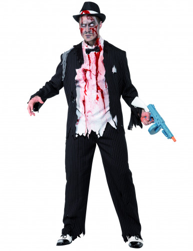 Charleston zombie gangster voor volwassenen Halloween kostuum