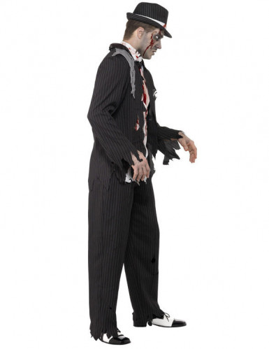 Charleston zombie gangster voor volwassenen Halloween kostuum-1