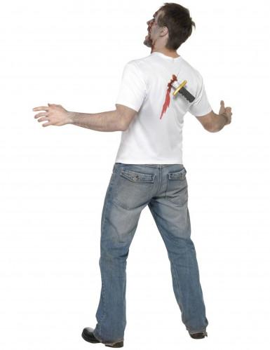 Verkleedkostuum voor volwassenen neergestoken persoon Halloween kleding-1