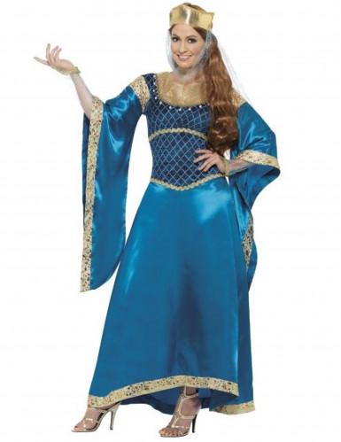 Luxueus middeleeuws koninginnenkostuum vrouwen