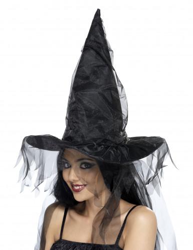 Zwarte heksenhoed voor volwassenen Halloween