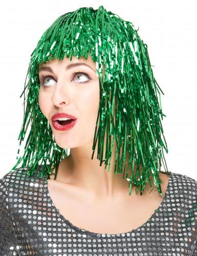 Groene glitterpruik voor vrouwen