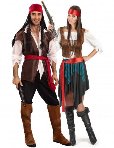 Luxe piraten koppel kostuums