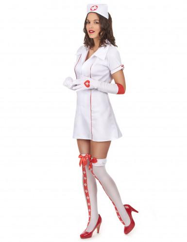 Sexy verpleegster kostuum met zusterhoedje voor vrouwen-1