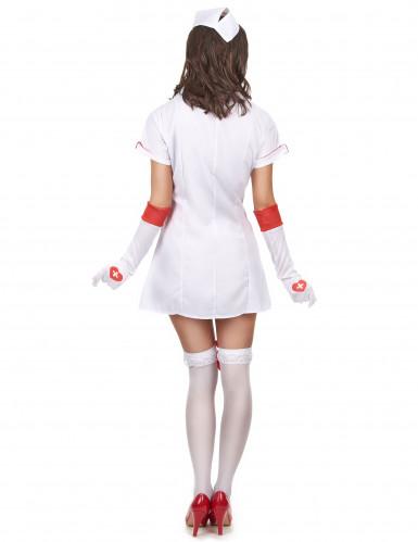 Sexy verpleegster kostuum met zusterhoedje voor vrouwen-2