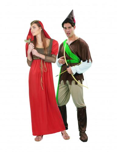 Middeleeuwse koppel kostuums